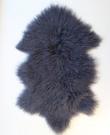 lamsvacht grijs - zwart