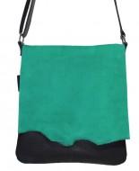 schoudertas met groene klep