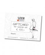 gifcard t.w.v. € 100