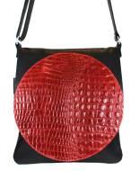 zwart rode schoudertas