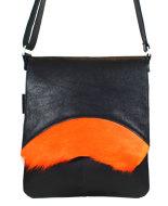 Messengerbag zwart oranje