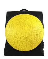 rugzak-met-cirkel-geel-front-design-Jill-en-Rose