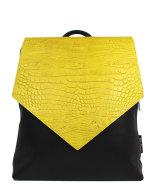 rugtas zwart met geel front