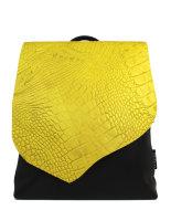 rugzak-met-geel-croco-front-design-Jill-en-Rose