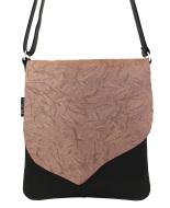 taupe-kreukleer messengerbag