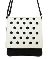 JillenRose schoudertas zwart wit polka dots