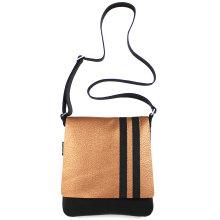 jill-en-rose-messengerbag-front-goud-zwarte-streep